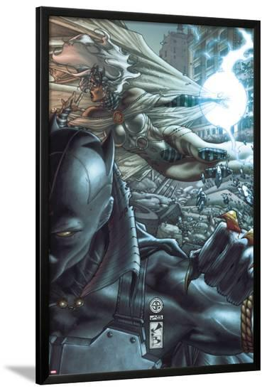 Black Panther: The Man Without Fear No.520 Cover: Black Panther and Storm-Simone Bianchi-Lamina Framed Poster