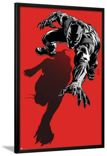 Black Panther: The Most Dangerous Man Alive No.523.1 Cover: Black Panther Crawling-Patrick Zircher-Lamina Framed Poster