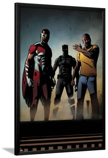 Black Panther: The Most Dangerous Man Alive No.526: Falcon, Black Panther, and Luke Cage-Shawn Martinbrough-Lamina Framed Poster