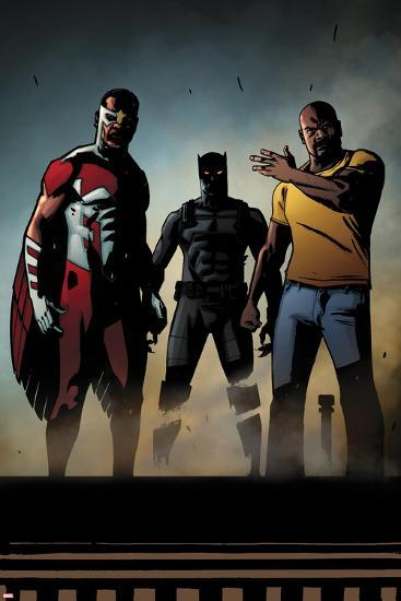 Black Panther: The Most Dangerous Man Alive No.526: Falcon, Black Panther, and Luke Cage-Shawn Martinbrough-Art Print