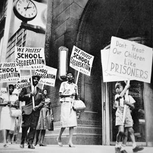 Black Parents and Children Demonstrating Against School Segregation in Saint Louis, Missouri, 1960S