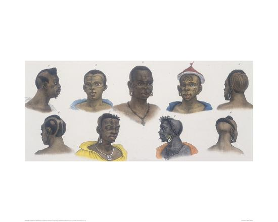 Black People of Different Nations-Jean Baptiste Debret-Giclee Print