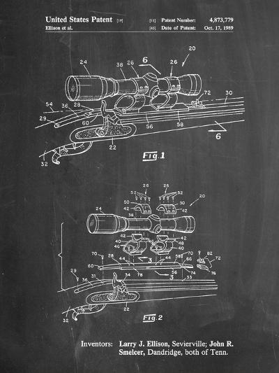 Black Powder Rifle Scope Patent-Cole Borders-Art Print