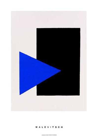 Black Rectangle, Blue Triangle, c.1915-Kasimir Malevich-Serigraph