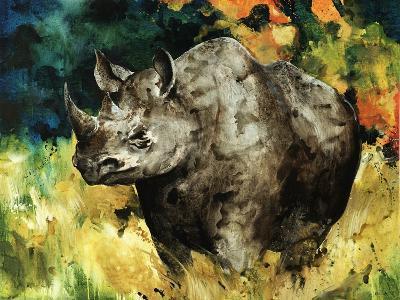 Black Rhino-Sydney Edmunds-Giclee Print