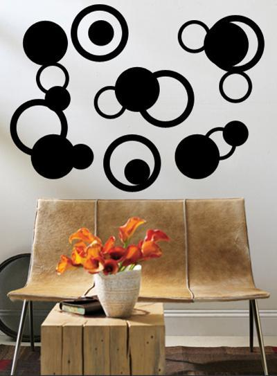 Black Rings--Wall Decal