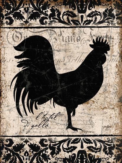 Black Rooster 1-Diane Stimson-Art Print