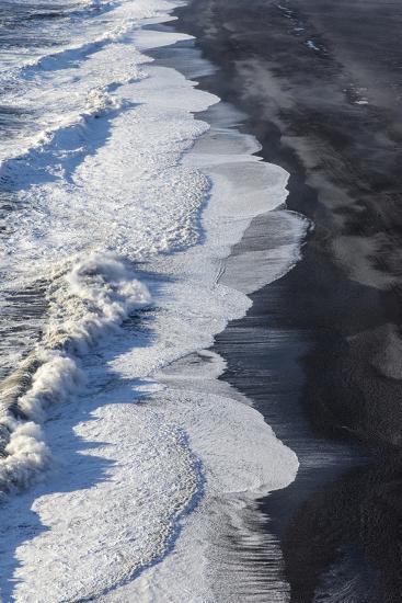 Black Sand Beach Near Vik, Iceland-Chuck Haney-Photographic Print