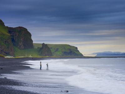 Black Sand Beach, Vik, Cape Dyrholaey, South Coast, Iceland-Michele Falzone-Photographic Print