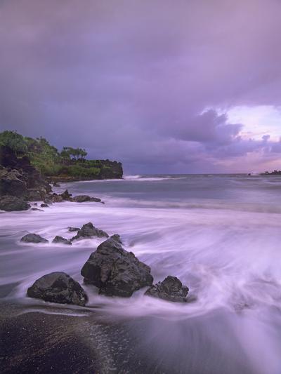 Black Sand Beach, Waianapanapa State Park, Maui, Hawaii, Usa-Tim Fitzharris-Photographic Print