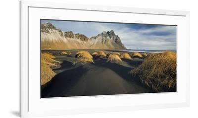 Black Sand, Kambhorn (Mountain), Stokksnes (Headland), Hornsvik (Lake), East Iceland, Iceland-Rainer Mirau-Framed Photographic Print