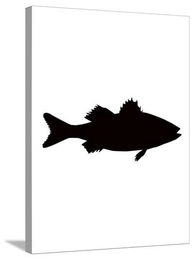 Black Sea Bass-Jetty Printables-Stretched Canvas Print