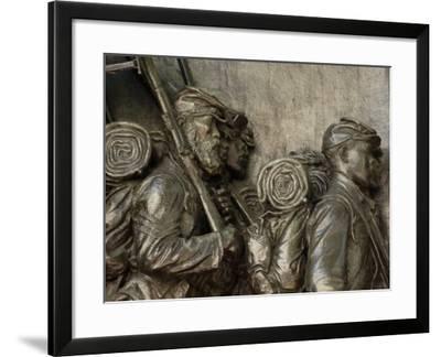 Black Soldiers of the 54th Massachusetts Regiment, Memorial in Boston, Massachusetts--Framed Photographic Print