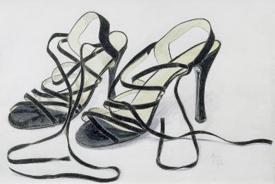 Black Strappy Shoes, 1997-Alan Byrne-Giclee Print