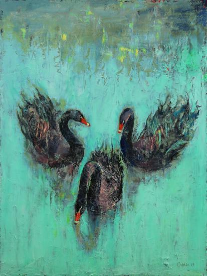 Black Swans-Michael Creese-Art Print