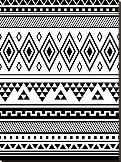 Black Tribal-Jetty Printables-Stretched Canvas Print