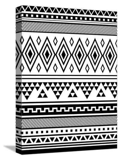 Black Tribal-Jetty Printables-Stretched Canvas Print