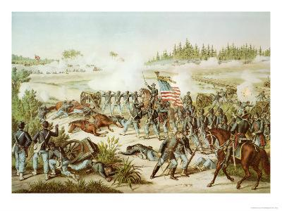 Black Troops of the 54th Massachusetts Regiment at the Battle of Olustee, Florida, 1864--Giclee Print