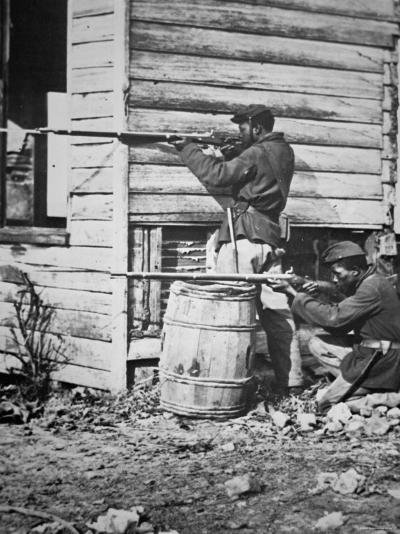 Black Troops of the Union Army on Picket Duty in Virginia During the American Civil War--Photographic Print