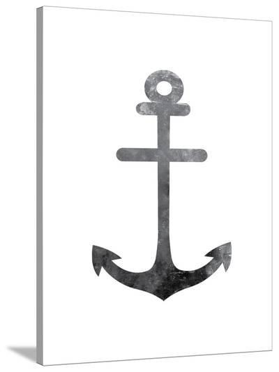 Black White Anchor-Jetty Printables-Stretched Canvas Print