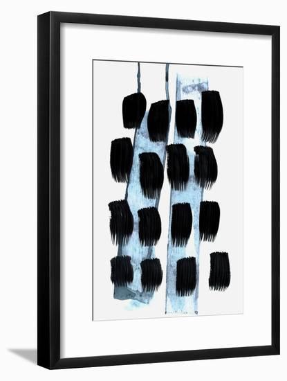 Black White Blue-Iris Lehnhardt-Framed Art Print