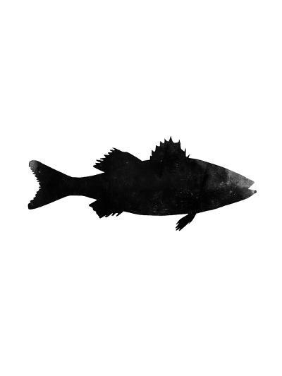 Black White Faded Sea Bass-Jetty Printables-Art Print