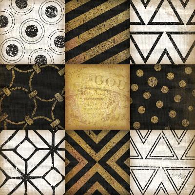 Black-White-Gold I-Jennifer Pugh-Art Print