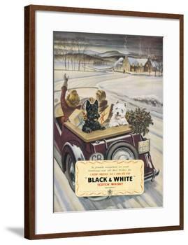 Black & White Scotch Whisky-null-Framed Art Print