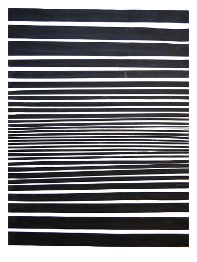 Black & White Stripes-Cara Francis-Art Print