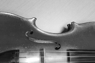 Black White Violin-ammza12-Art Print