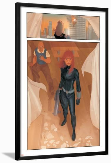 Black Widow #1 Figure: Black Widow-Phil Noto-Lamina Framed Poster