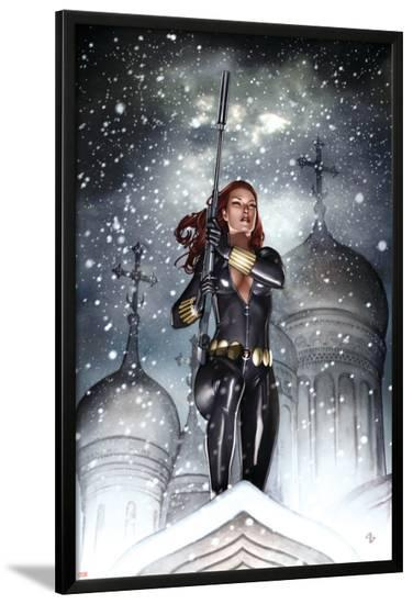 Black Widow: Deadly Origins No.2 Cover: Black Widow-Adi Granov-Lamina Framed Poster