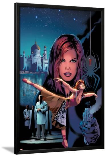 Black Widow No.4 Cover: Black Widow-Greg Land-Lamina Framed Poster