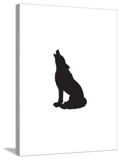 Black Wolf-Jetty Printables-Stretched Canvas Print