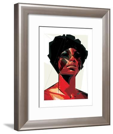 Black Woman 6-Enrico Varrasso-Framed Art Print