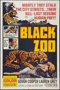 Black Zoo, poster art, 1963