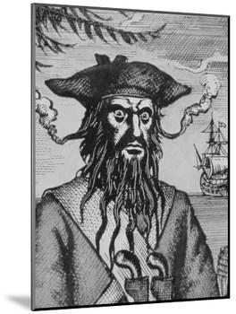 Blackbeard the Pirate-null-Mounted Giclee Print
