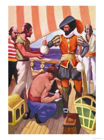 Blackbeard-George Taylor-Art Print