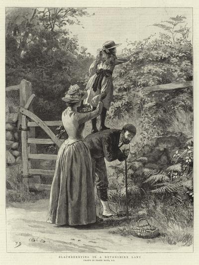 Blackberrying in a Devonshire Lane-Frank Dadd-Giclee Print