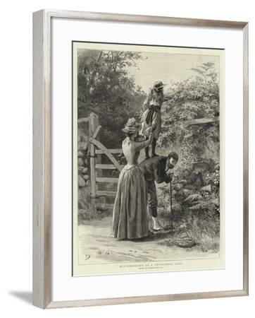Blackberrying in a Devonshire Lane-Frank Dadd-Framed Giclee Print