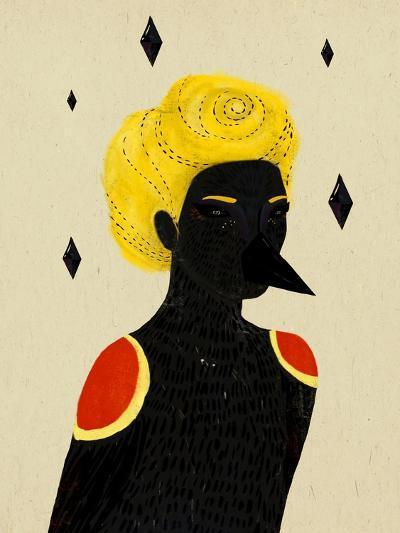 Blackbird-Diela Maharanie-Art Print