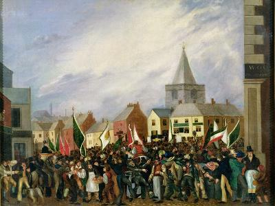 Blackburn Market Place, 1832--Giclee Print