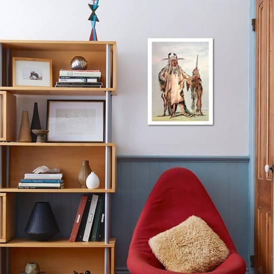 Blackfoot Indian Pe-Toh-Pee-Kiss, the Eagle Ribs Giclee Print by George  Catlin   Art com