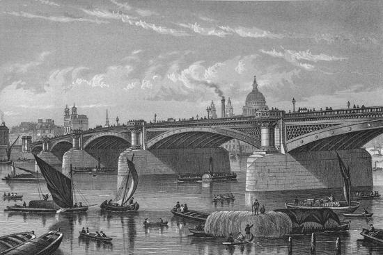 Blackfriars Bridge from the Surrey side, London, c1875 (1878)-Unknown-Giclee Print