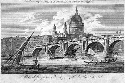 Blackfriars Bridge, London, 1803--Giclee Print