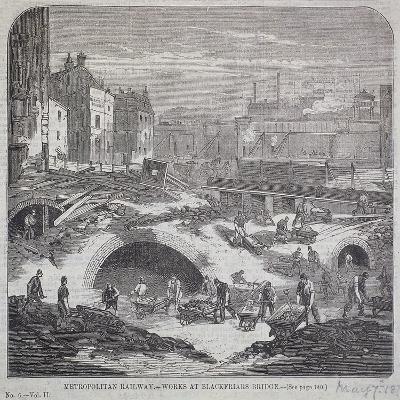 Blackfriars Bridge, London, 1863-Mason Jackson-Giclee Print