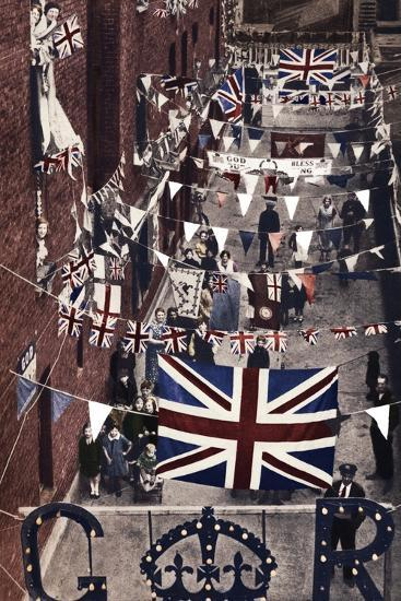 'Blackfriars, London, decoarted for King George VI's coronation', 1937-Unknown-Photographic Print