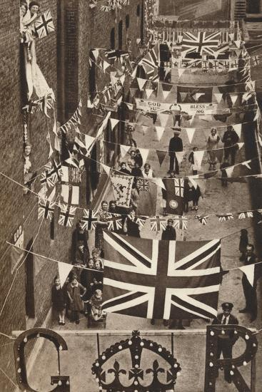 Blackfriars, London, Decoarted for King George Vis Coronation, 1937--Photographic Print