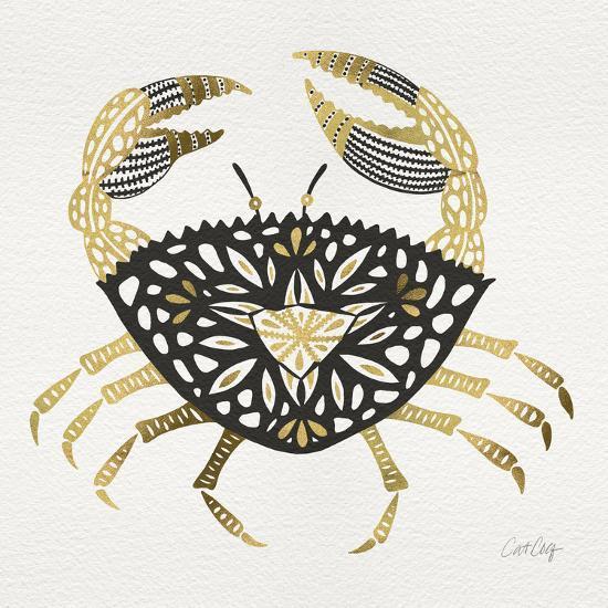 BlackGold-Crab-Artprint-Cat Coquillette-Giclee Print