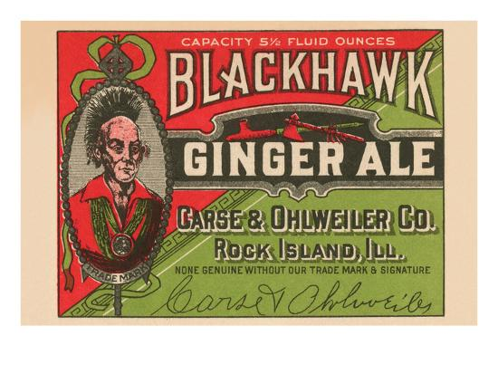 Blackhawk Ginger Ale--Art Print